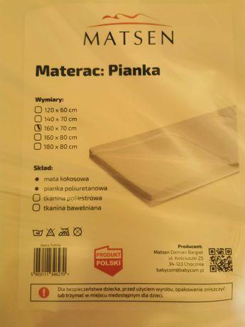 Sprzedam nowy materac piankowy do łóżka dla dziecka.