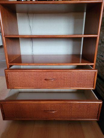 Szafka/komoda z półkami i 2 szufladami rattan
