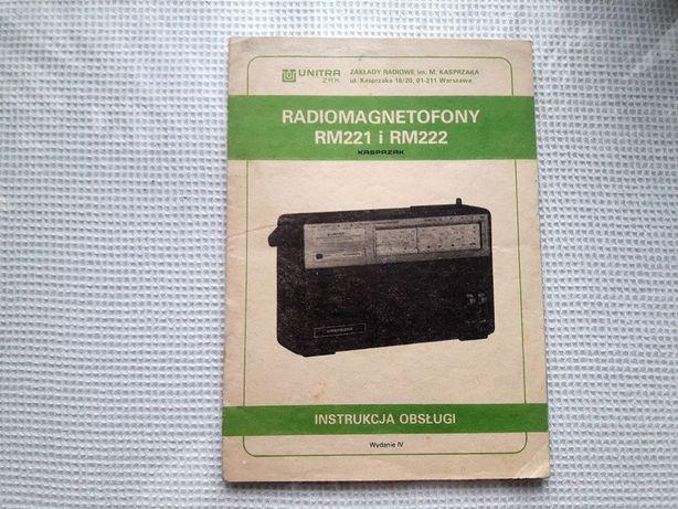 Radiomagnetofon Kasprzak RM 221 RM 222 Unitra PRL instrukcja obsługi