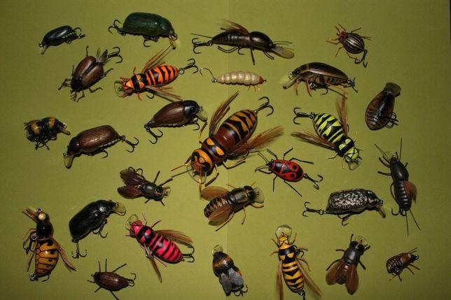 Имитации насекомых для спининговой ловли.