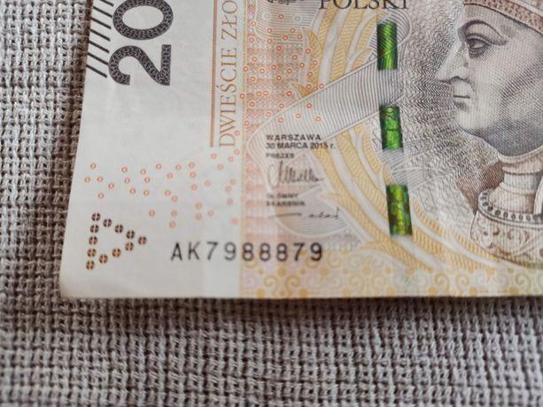 Bankntot 200 zł  ciekawy numer seryjny