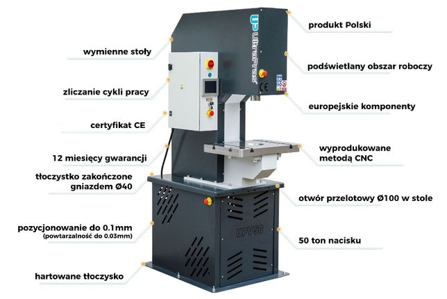 Prasa hydrauliczna 50 ton uniwersalna UPV50 UltraPras