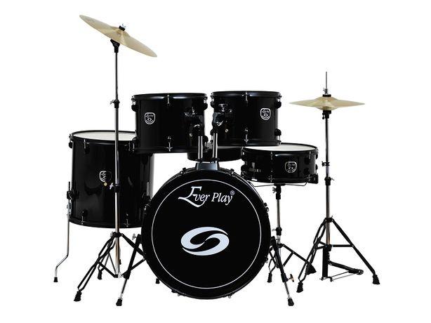 Perkusja z talerzami i stołkiem Ever Play JBP0803 zestaw perkusyjny