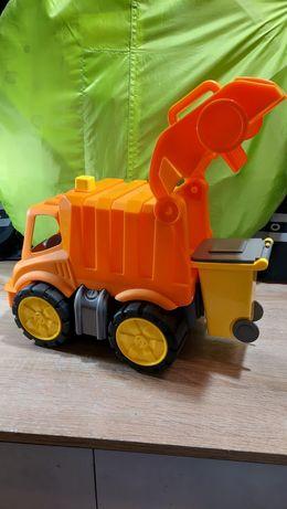 Camiao lixo laranja