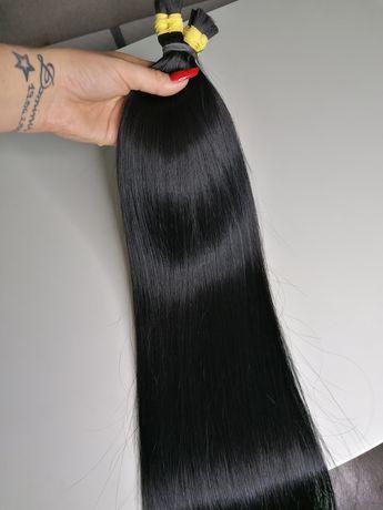 Włosy rosyjskie czarne 60 cm