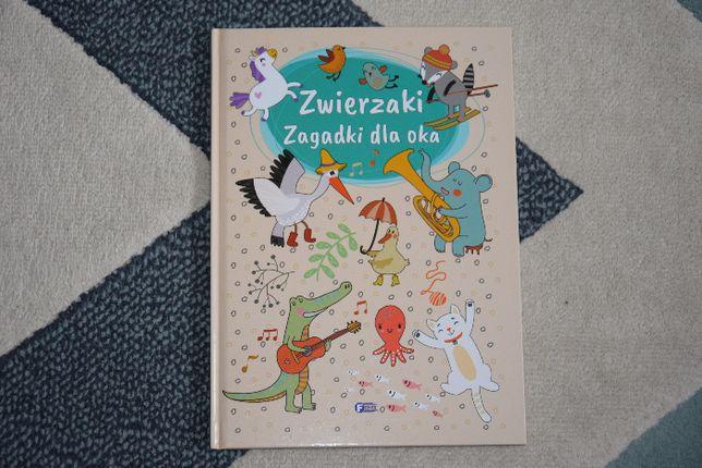książka dla dzieci Zagadki dla oka Zwierzaki Fenix