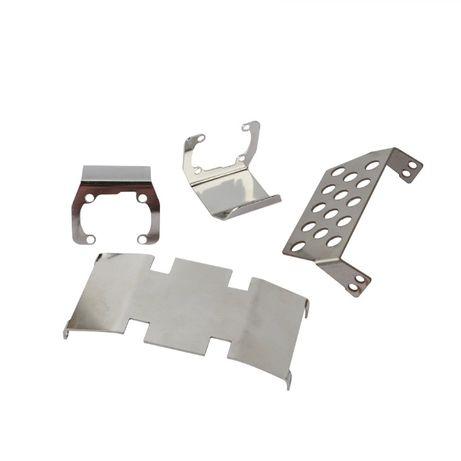 Protecções inferiores em aço inox para SCX10 2