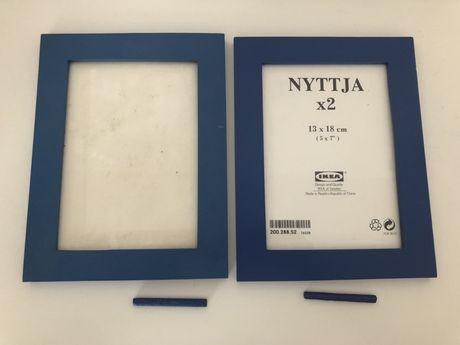 Ramki na zdjęcia ramka na zdjęcie Ikea 13x18 niebieska zestaw 2szt.
