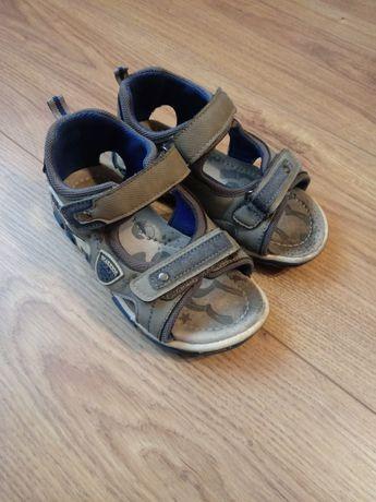 Szare niebieskie sandały ze skórzaną profilowaną wkładką Cool Club