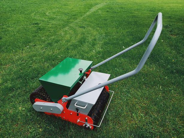 Zakładanie renowacja trawników glebogryzarka separacyjna sianie trawy