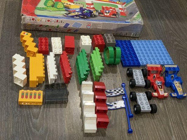 Конструктор Unico Plus 8564 Kid Cars F1 Автодром 61 деталь Оригинал