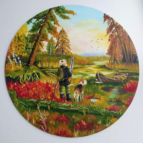 Картина маслом на заказ. Картина охота, цветы, натюрморт