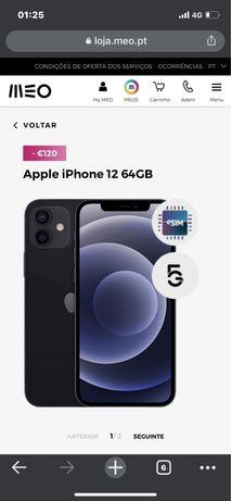 Iphone 12 preto 62gb novo(troca por mate 30 pro ou p40 pro ou mate 40