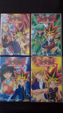 4 DVD Yu-Gy-Oh (volumes 1 a 4)