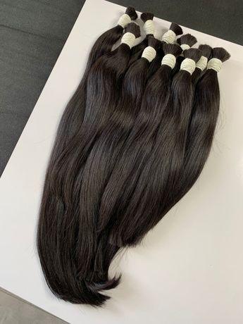 Włosy słowiańskie czarne 40-65 cm kitki przedłużanie włosów