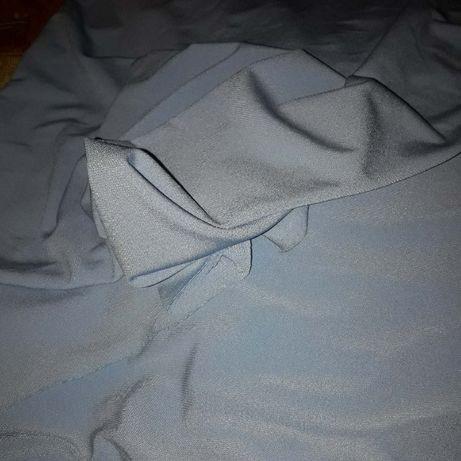 Отрез ткани трикотаж светло васильковый цвет 155 х 75 см