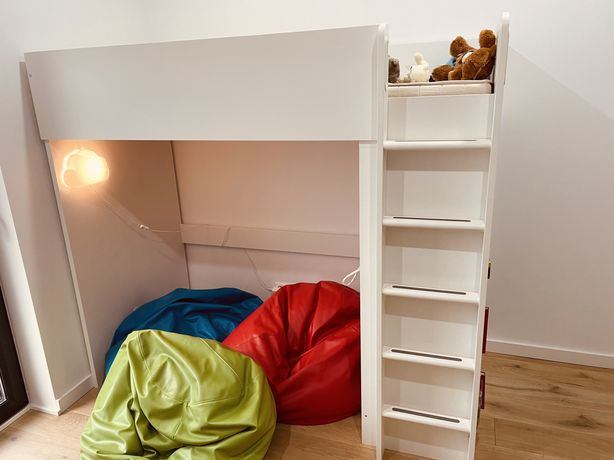Łóżko piętrowe + biurko IKEA