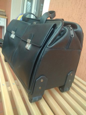 Neseser walizka torba skórzana