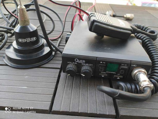 Radio CB QUER z anteną , super zestaw polecam 100% sprawny