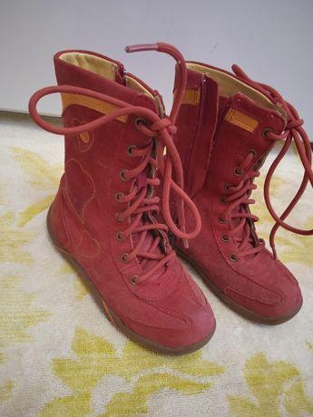 Ботинки замшевые 28 р