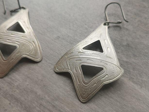 DD635 DUŻE PIĘKNE srebrne kolczyki, srebro 925