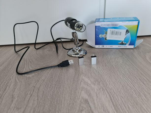 Microscópio digital 1600x 3in1