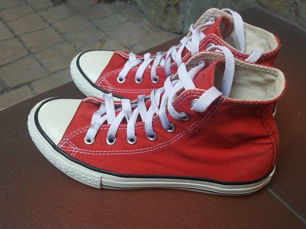 CONVERSE ROZM.34 wysokie czerwone all star