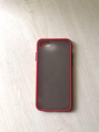 Красный силиконовый чехол для Iphone 7/8/se 2
