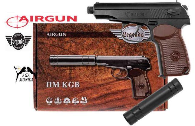Wiatrówka Pistolet Legends PM KGB 4,5 mm BB +5 Kapsułek CO2