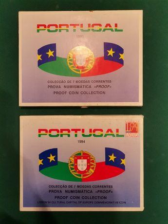 """Coleção de catorze moedas correntes 1993/94, Prova Numismática """"PROOF"""""""