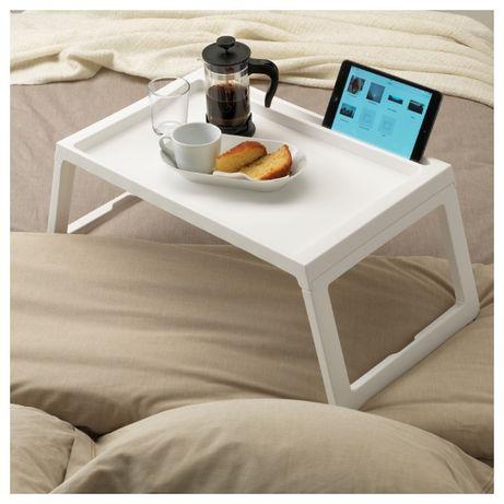 Поднос на ножках столик икеа клипск в наличии белый серый