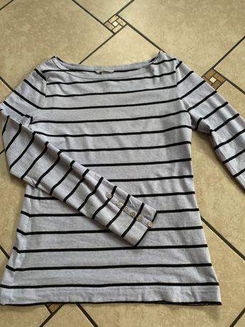 Bluzka bawełnianka , padeczki ,  H&M M