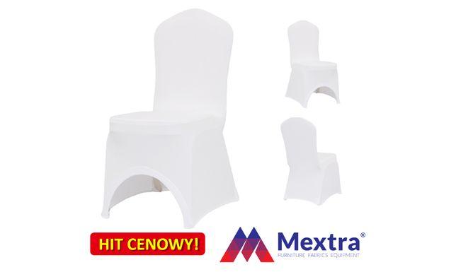 Pokrowce bankietowe na krzesła, białe SLIMTEX 240