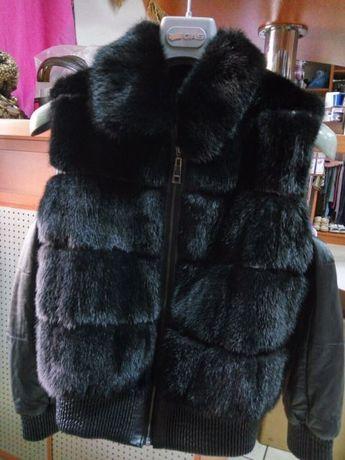 Куртка- жилет норковый блекглама, Италия!