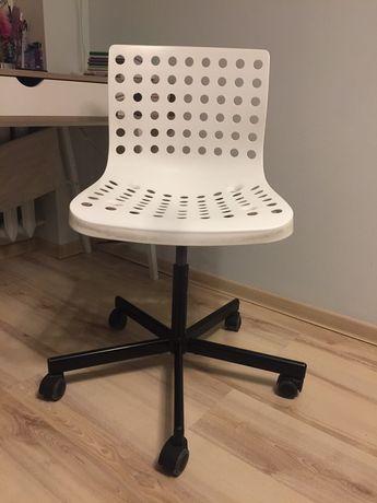 Krzesło obrotowe fotel do biurka białe IKEA