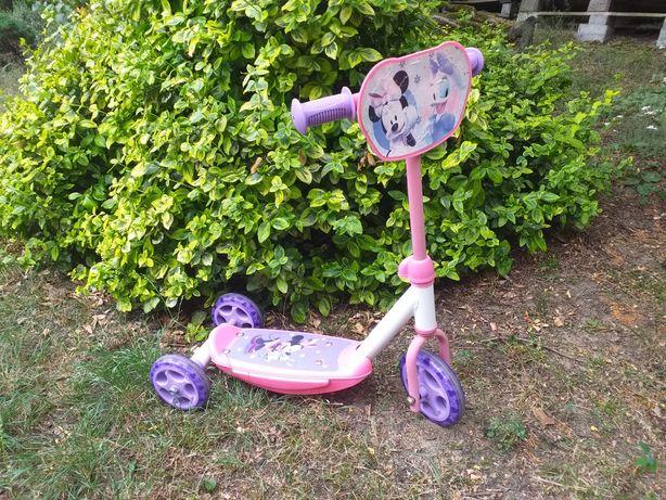 Hulajnoga Smoby myszka Minnie mini miki Daisy różowa fioletowa