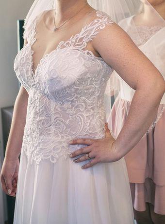 Wygodna, biała suknia ślubna