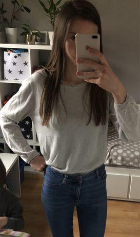 Jasny kaszmirowy sweter jedwab kaszmir 38 M idealny miekki delikatny