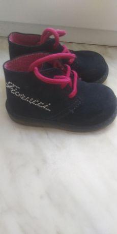 Замшеві шкіряні черевички, взуття для дівчинки
