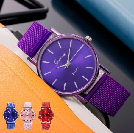Женские кварцевые часы (в наличии 4 цвета)