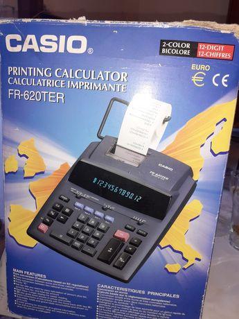 Máquina calculadora que imprime