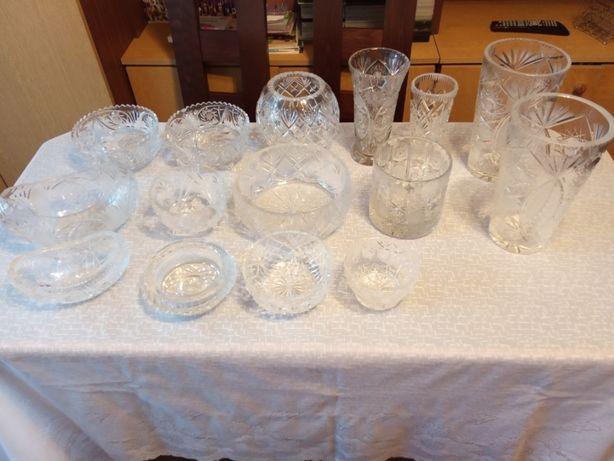 Kryształy wazony,misy , popielniczka
