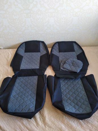 Комплект универсальных чехлов на авто вставки алькантара