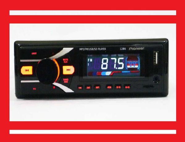Автомагнитола Pioneer 1286 ISO - MP3,FM,USB+microSD-карта