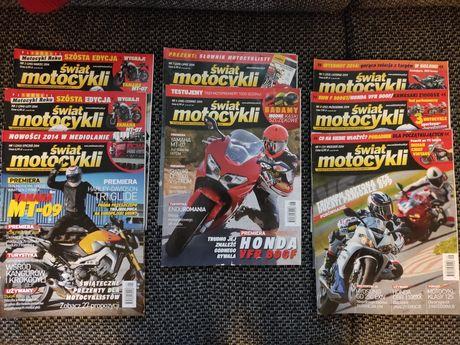 Świat Motocykli 2014r. miesięcznik + gratis