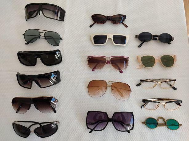 Óculos de sol e de leitura modelos anos 70, 80 e 90 para coleccionador