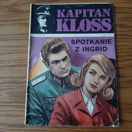 """Komiks Kapitan Kloss """" Spotkanie z Ingrid"""" nr 7 wyd. I z 1972 roku"""