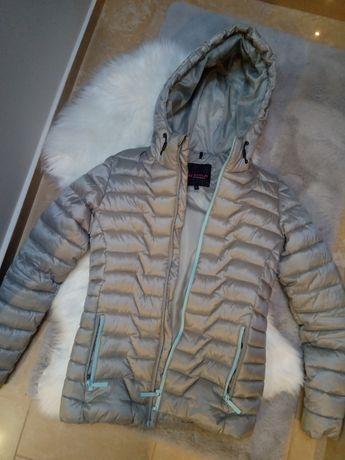 Siwa kurtka pikowana
