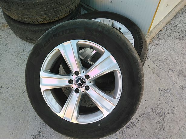 "4un Jantes Mercedes Benz 18"" originais com pneus seminovos hankook"