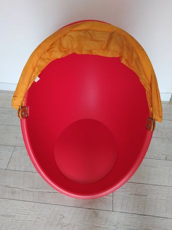 Ikea jajko fotel obrotowy LOMSK z daszkiem siedzisko